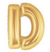 "40"" Large Letter Balloon D Gold"