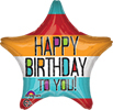 Birthday Bold Type Star Balloon