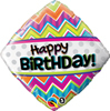 Birthday Chevrons Diamond Balloon