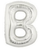 "40"" Large Letter Balloon B Silver"