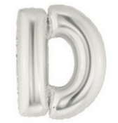 "40"" Large Letter Balloon D Silver"