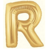 Letter Balloon R Gold
