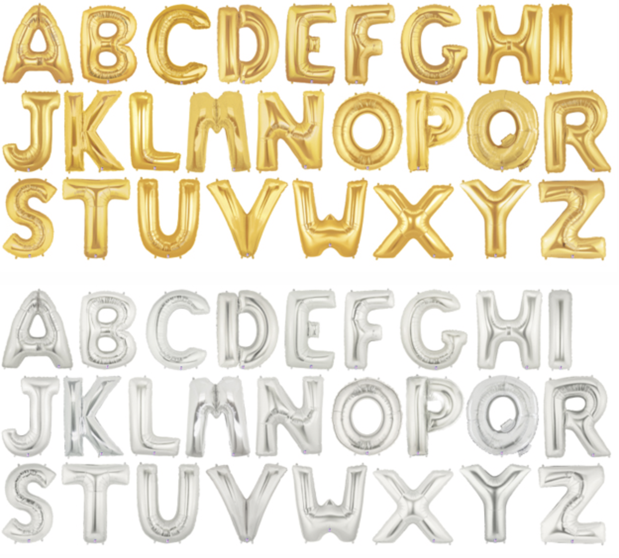 Permalink to Giant Gold Letter Balloons
